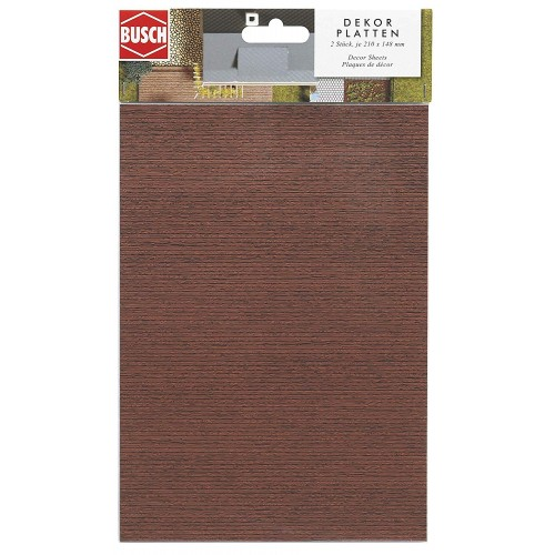 CARTULINA DECORACION COLOR MADERA ESCALA H0 210x148mm (2 unids) - BUSCH 7039