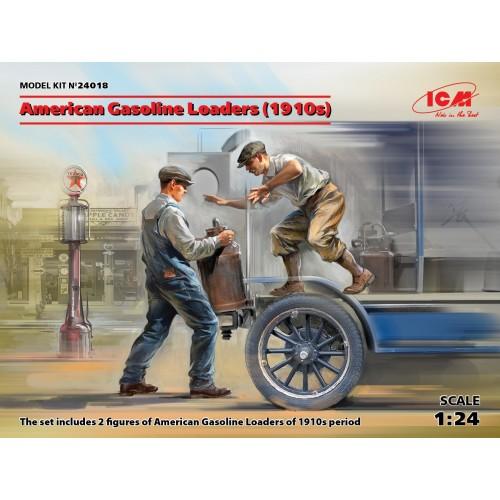 CARGANDO GASOLINA (1910) 2 Figuras -1/24- ICM 24018
