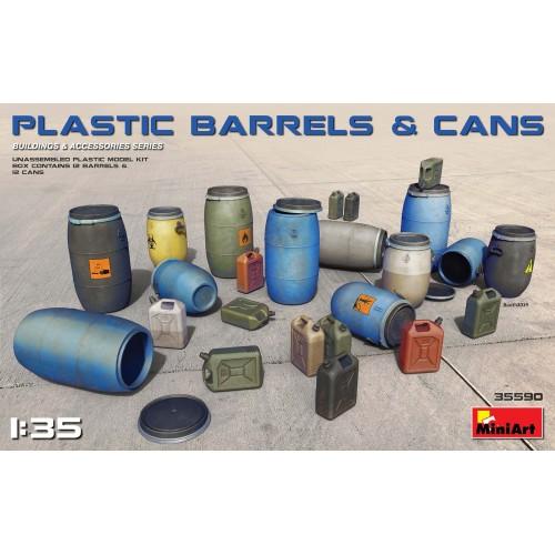 BARRILES Y BIDONES DE PLASTICO -1/35- MiniArt 35590