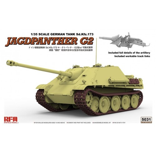 CAZA CARROS Sd.Kfz. 173 JagdPanther Ausf.G2 -1/35- Rye Field Model RM5031