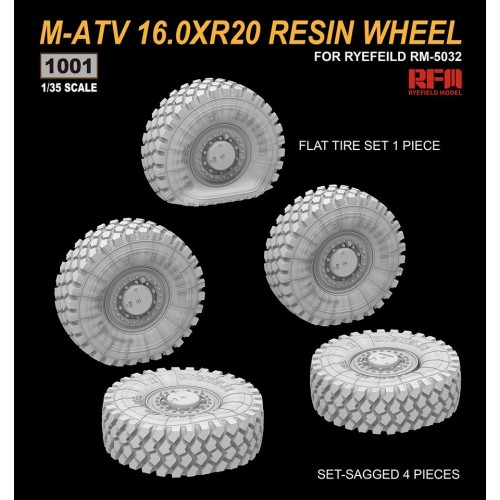SET RUEDAS RESINA MATV (5 unidades) -1/35- Rye Field Model 1001