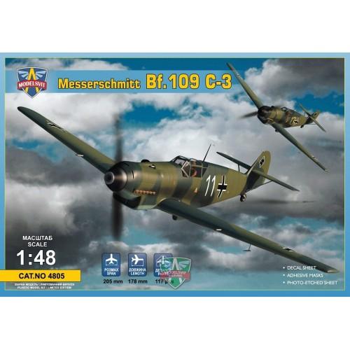 MESSSERSCHMITT Bf-109 C-3 -1/48- Modelsvit 4805