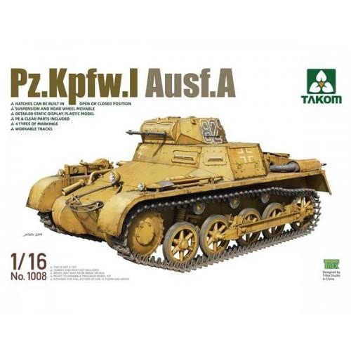 CARRO DE COMBATE Sd.Kfz. 101 PANZER I Ausf. A -1/16- Takom 1008