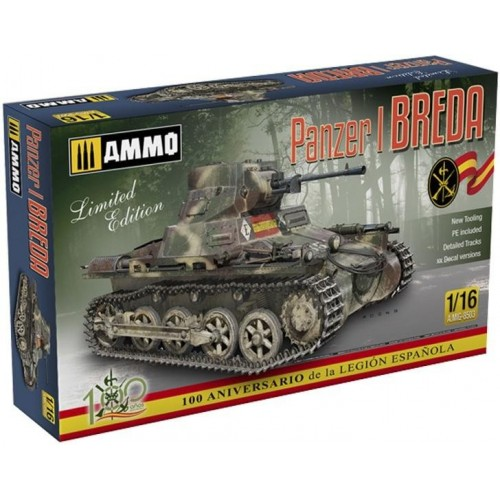 CARRO DE COMBATE Sd.Kfz. 101 PANZER I - BREDA -1/16- AMMO MIG 8503