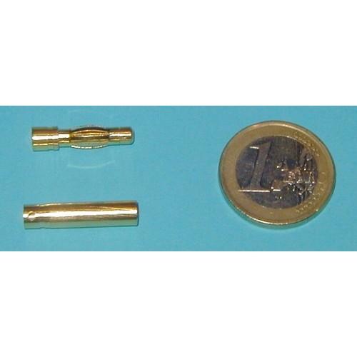 CONECTOR ORO 4 mm (Macho / Hembra)