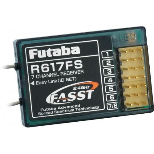 RECEPTOR FUTABA FASST R617FS (7 Canales) 2,4 GHz - FUTABA 410073090