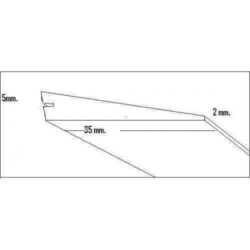 BORDE SALIDA BALSA (35 x 5 x 2 x 1.000 mm)