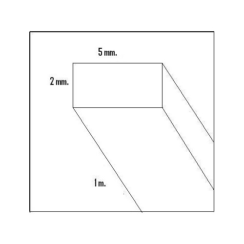 LISTON BALSA (2 x 5 x 1000 mm)