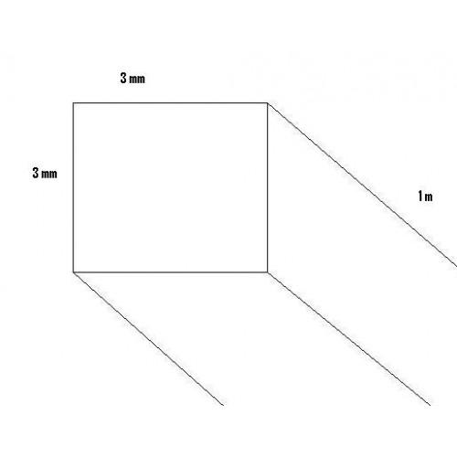 LISTON BALSA (3 x 3 x 1000 mm)