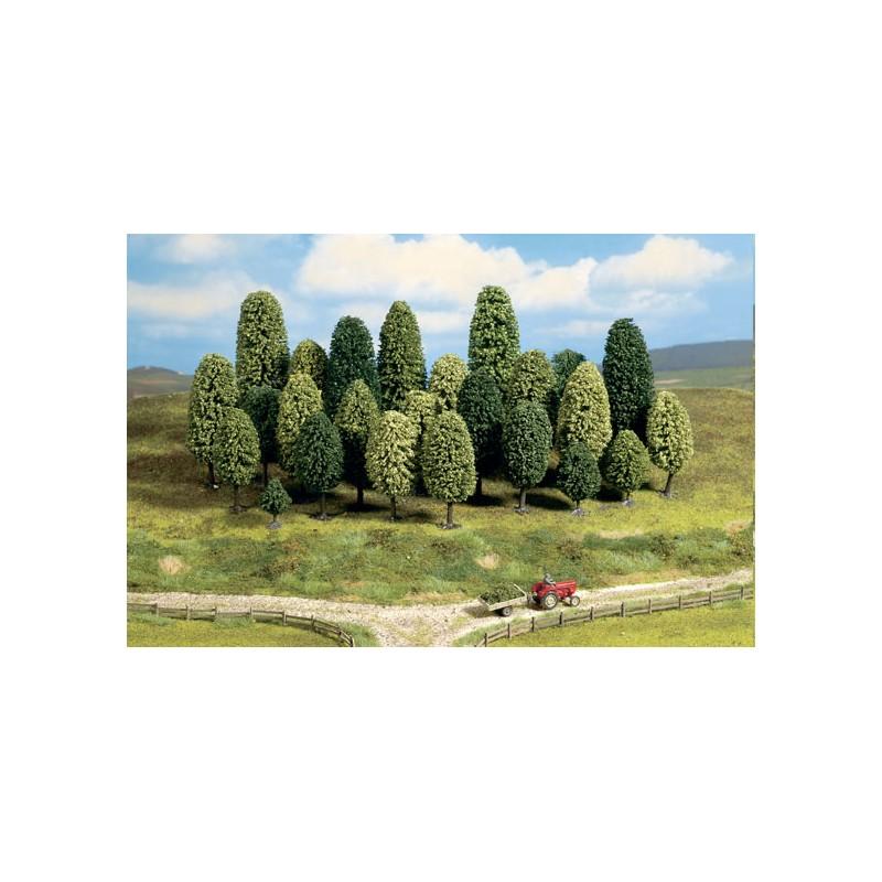 Arboles hoja caduca h0 y tt 65 110 mm 25 unidades for Lista de arboles de hoja caduca