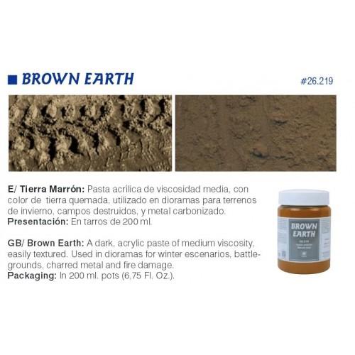 PASTA COLOR TIERRA MARRON (200 ml)