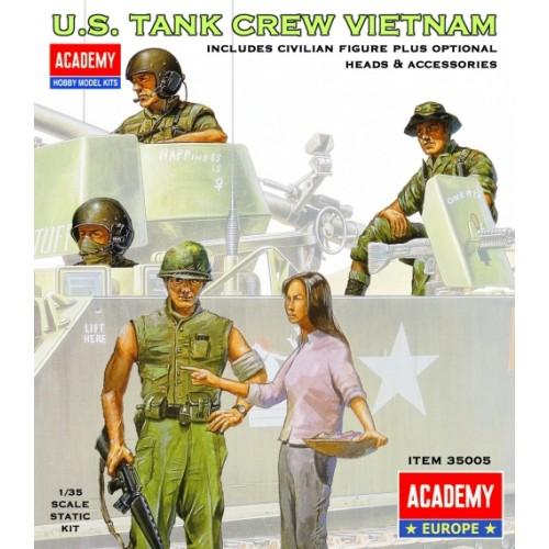 TRIPULACION M-113 U.S. ARMY VIETNAM Y CIVIL - Academy 35005