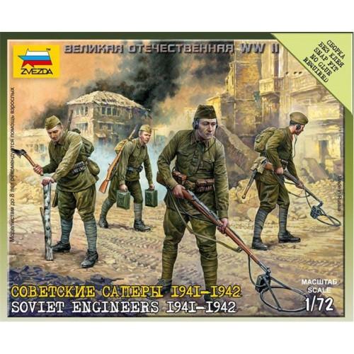 ZAPADORES DE ASALTO SOVIETICOS 1.941 - 1.942 (4 figuras) 1/72