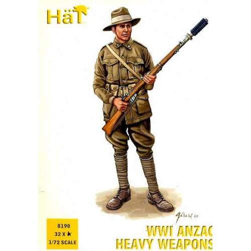 INFANTERIA ANZAC, ARMAS PESADAS 1ª G.M. (32 piezas) -1/72- Hat 8190