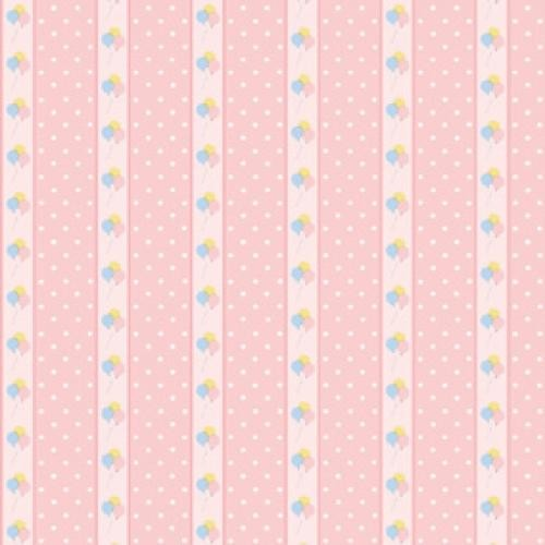 PAPEL PARED INFANTIL ROSA ESTAMPADO GLOBOS (300 x 470 mm9