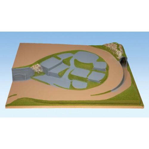 TOPORAMA: EXTENSION LATERAL DERECHA HEIDELBERG (1200 x 1000 x 225 mm) Escala H0