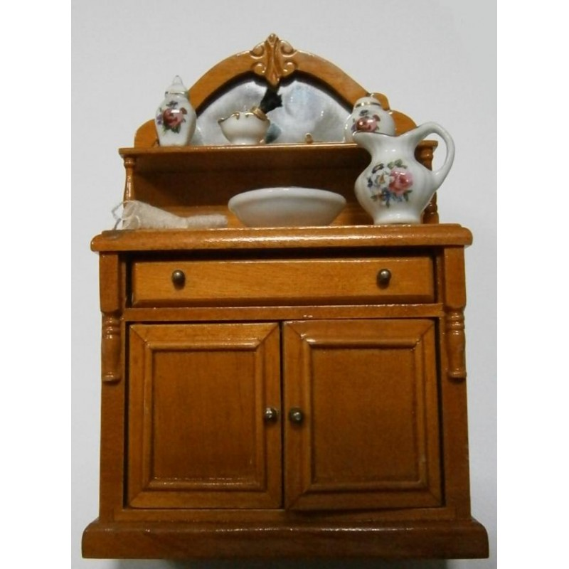 Mueble de ba o en madera con accesorios hobbyonline for Accesorios para muebles de bano