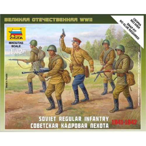 INTANTERIA REGULAR SOVIETICA (5 figuras) 1/72
