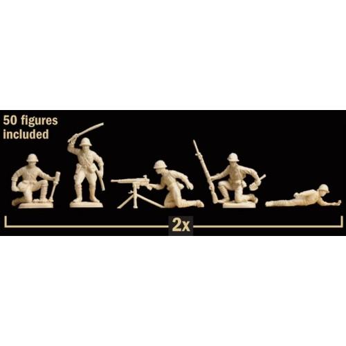 INFANTERIA JAPONESA (50 figuras) -1/72- Italeri 6170