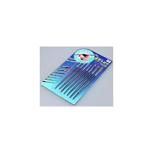 SET PINCELES DE MODELISMO (3 redondos / 4 planos) - Trumpeter Master Tools 09900