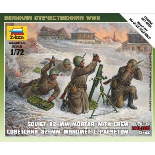 MORTERO 82 mm SOVIETICO Y DOTACION