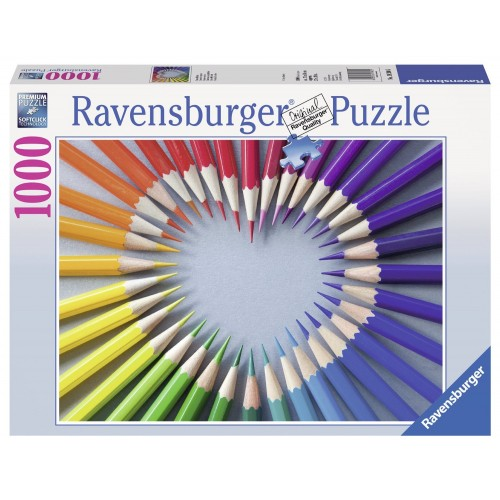 PUZZLE 1000 PZAS CORAZON DE COLOR (700 x 500 mm)