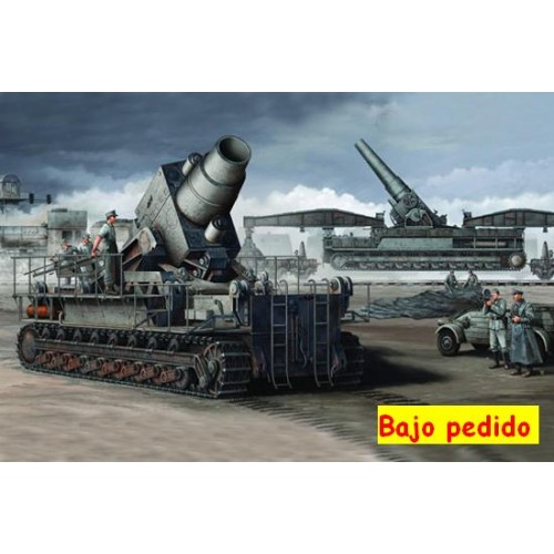 MORTERO PESADO KARL-GERAT 040/041 & VAGONES DE TRANSPORTE - Trumpeter 00208