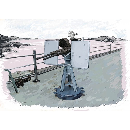 MONTAJE DOBLE CAÑON OERLIKON 20 mm /70 Mk-24 U.S.A.