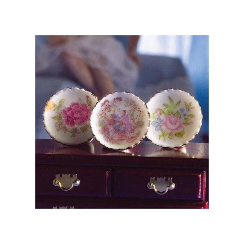 Juego de platos de decoracion 3 unidades hobbyonline for Platos de decoracion