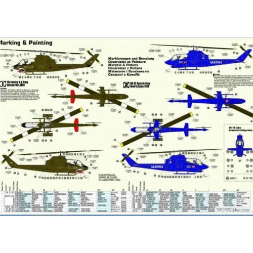 BELL AH-1G COBRA C/ESP escala 1/72 mister craft 020026