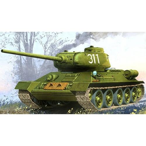 KIT CARRO DE COMBATE T-34/85 CONTROL REMOTO ESCALA 1/48