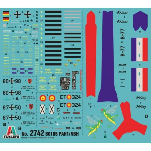 MESSERSCHMITT-BOLKOW-BLOHM BO-105 / PAH-1 C/ESP - ESCALA 1/48 - ITALERI 2742