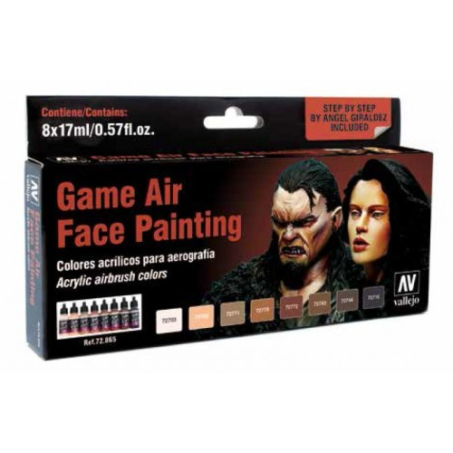 SET GAMES AIR PINTURA DE CARAS (8 botes)