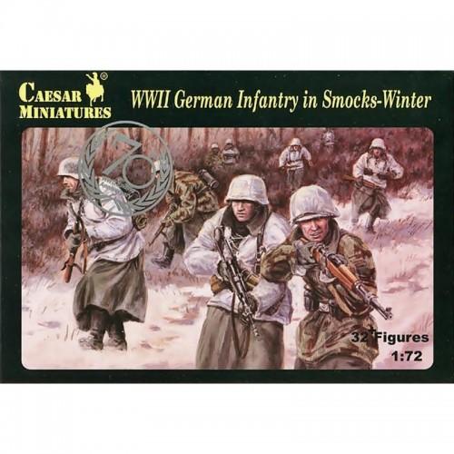 Soldados Alemanes Ponchos Camuflaje Invierno