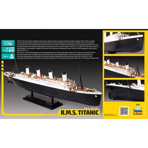 TRANSATLANTICO R.M.S. TITANIC 1/700 Zvezda 9059