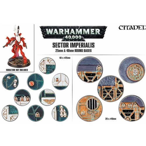 SECTOR IMPERIALIS: BASES 25 Y 40MM GAMES WORKSHOP 66-92