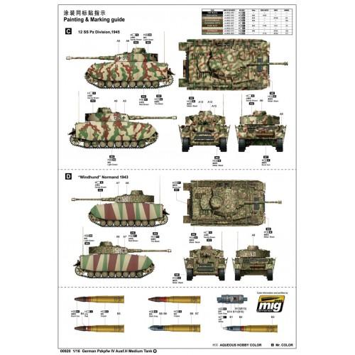 CARRO DE COMBATE Sd.Kfz. 161 Ausf. H PANZER IV 1/16 - Trumpeter 00920