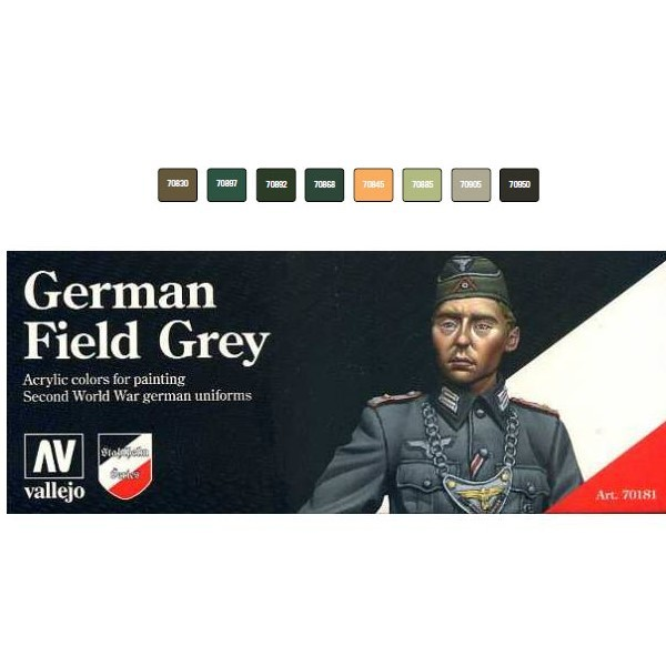 Set Pinturas German Field Grey ( 8 Colores9