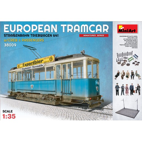 TRANVIA EUROPEO CON ACCESORIOS Y VIAJEROS - MiniArt 38009
