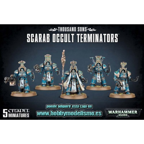 THOUSAND SONS SCARAB OCCULT TERMINATORS - GAMES WORKSHOP 43-36