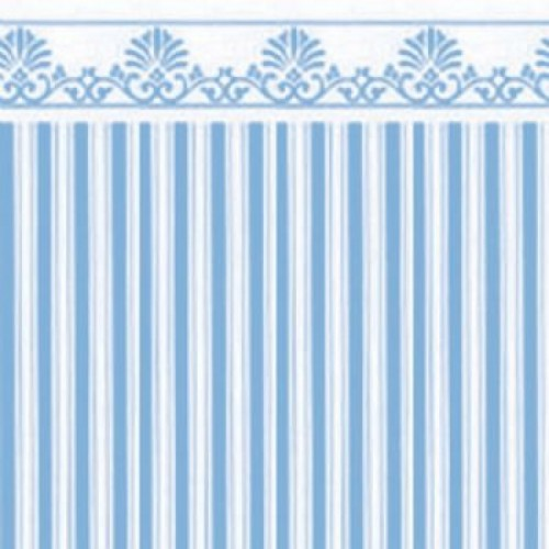 Papel pared rayas azules con greca hobbyonline - Papel pared online ...