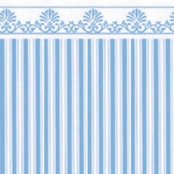 Papel pared rayas azules con greca hobbyonline - Papel pared rayas ...