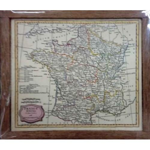 MAPA DE FRANCIA CON MARCO (72 X 60MM)