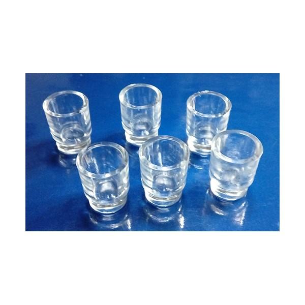 Juego 6 Vasos Plastico Altura 13mm Hobbyonline