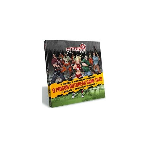 ZOMBICIDE: 9 Prision Outbreak Game Tiles