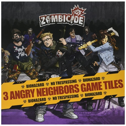 ZOMBICIDE: 3 Angy Neighbors Game Tiles