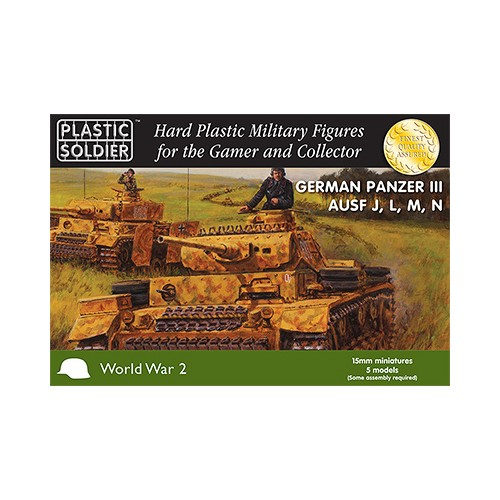 CARRO DE COMBATE PANZER III J, L, M, N - Plastic Soldier WW2V15010