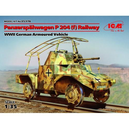 VEHICULO BLINDADO SOBRE RAIL PANHARD 204 (f) - ICM 35376