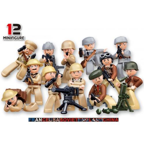 FIGURA SOLDADO 2ª Guerra Mundial - Sluban B0582