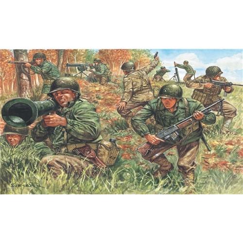 INFANTERIA U.S. Segunda Guera Mundial (50 figuras) -1/72- Italeri 6046